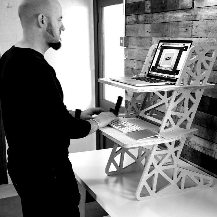 Back at work after a great Easter weekend. Our S-Desk 2 in full use! Website is coming along nicely and we'll ready for standing desk and laptop stand orders soon. Follow us for release info (and we'll follow back).