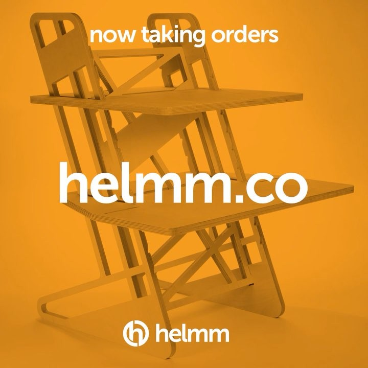 Our website is now live and we are open for online orders for our standing desks and laptop stands. We have a limited stock available for our website launch, after that is gone we will be making on request – so for super fast delivery get your order in quick!• • • • • #helmm #laptopstand #standingdesk #workspacegoals #officeinterior #deskgoals #creativespaces #standupforyourself #corporatewellness #ergonomic #deskspace #officefurniture #whereiwork #coworkingspace #mydesk #freeukshipping #modernfurniture #onmydesk #officestyle #workingfromhome #coworking #productivity #workspace #homeoffice #productdesign #setup #industrialdesign #weblaunch #archictecturelovers #interiordesign