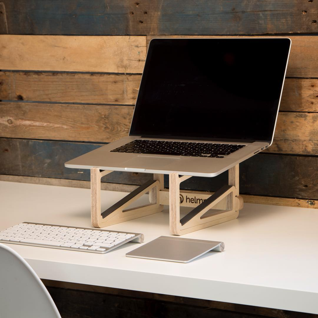 We have now got stock of our portable, wooden laptop stands available for purchase on our website. If you're quick you can also register for a discount voucher in May. Link in bio