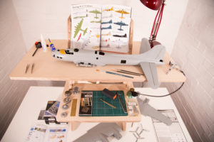 Work bench for model makers