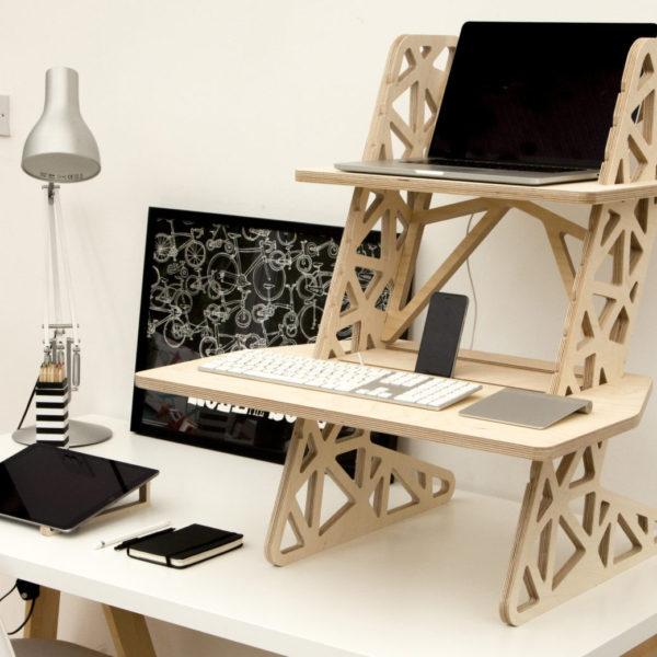 standing desk wooden UK S-Desk Voro