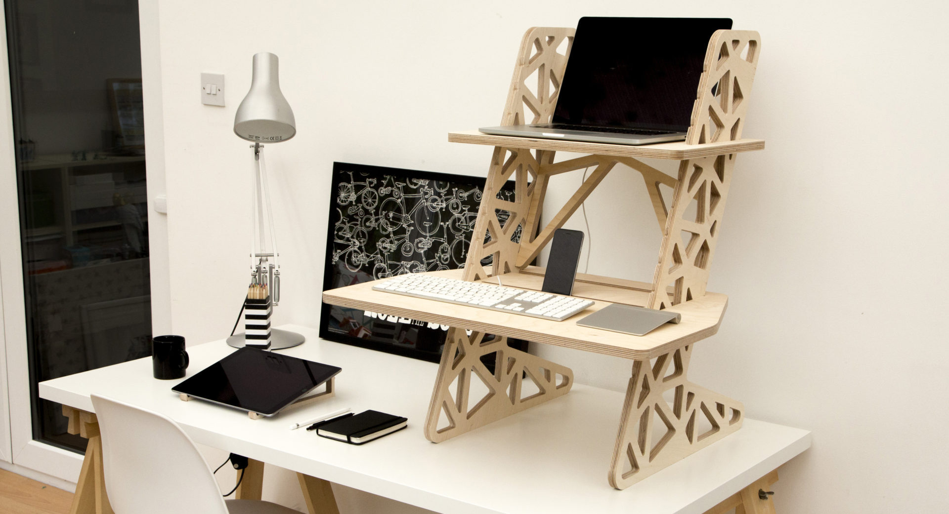 standing desk wooden UK S-Desk Voro