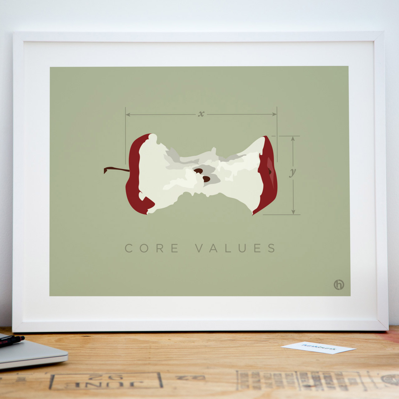 Core values office jargon art print poster