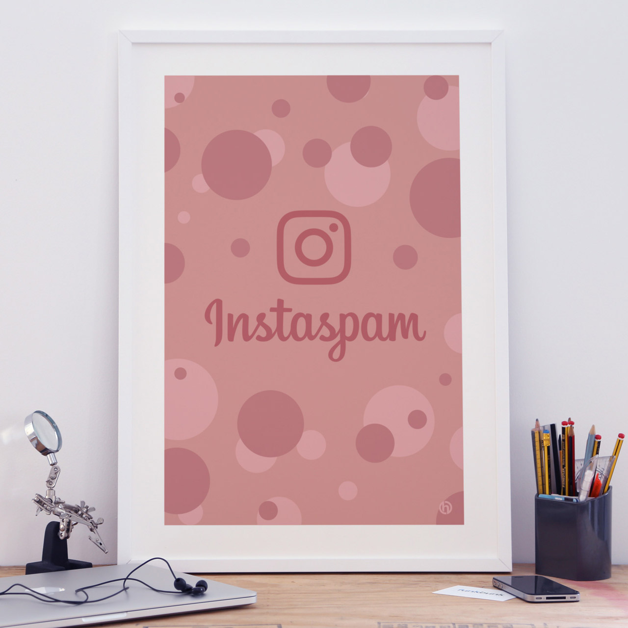Instaspam Instagram parody art print poster