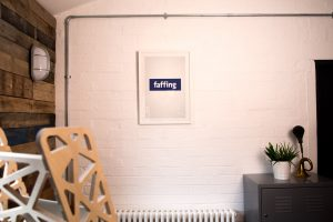 Art for your office - Faffing - a Facebook parody poster