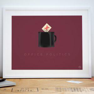 Office politics corporate jargon art print poster