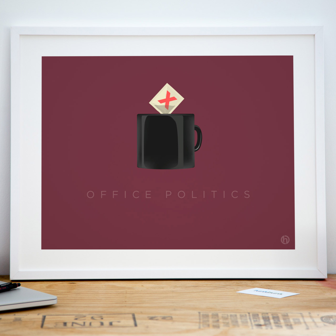 Office politics corporate jargon art print poster