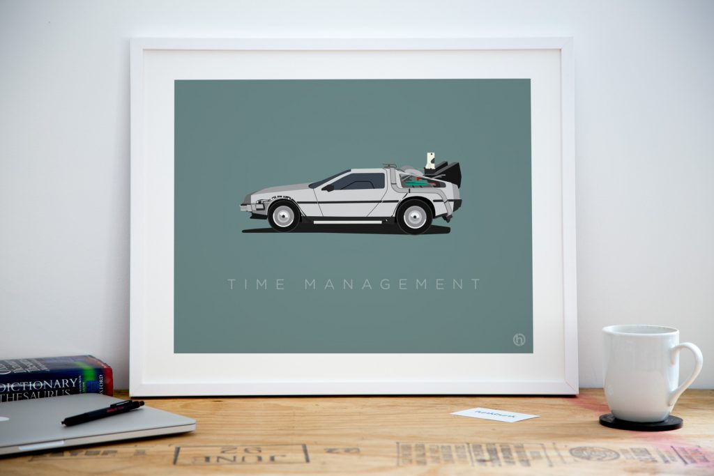 Office art - delorean poster