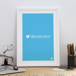 Timewaster Framed Twitter parody art print poster small