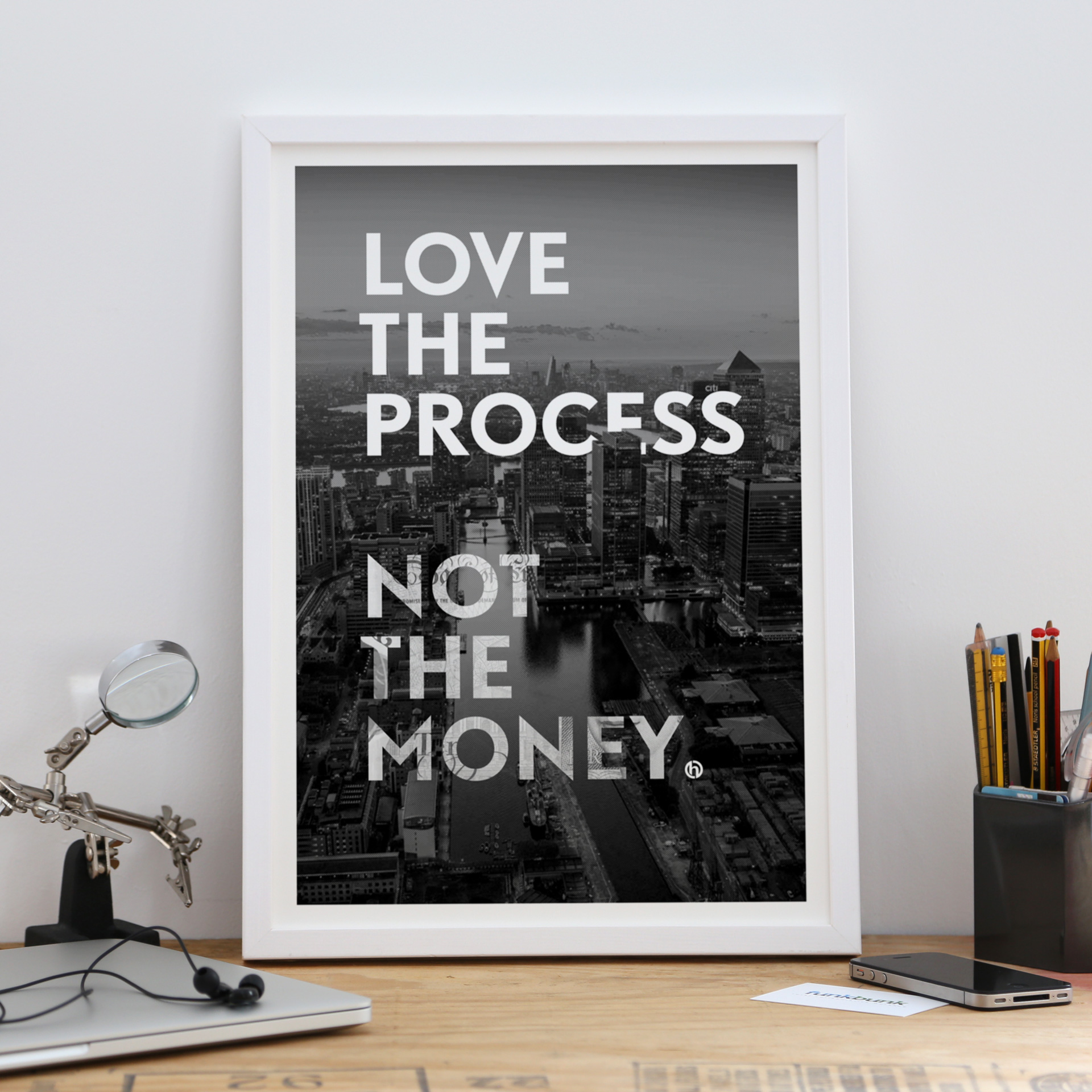 A3 motivational print - cityscape - Love the Process