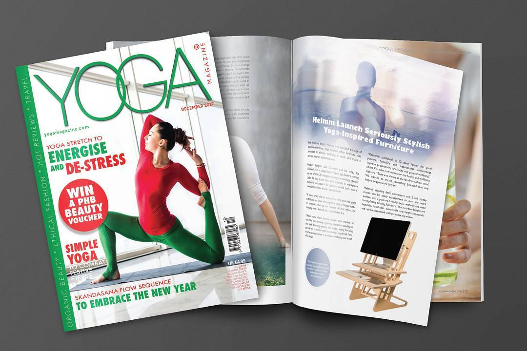 Super happy to have been featured in YOGA Magazine! The article is available on our website (link in bio) and talks about maintaining all that good work done in yoga by using a standing desk