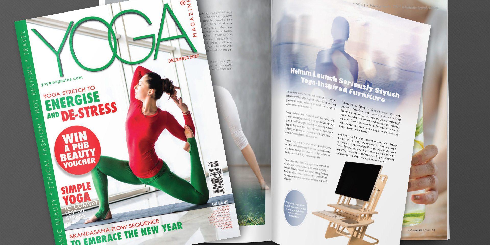 Helmm Standing Desk Featured In Yoga Magazine Helmm