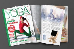 standing desk in YOGA Magzine