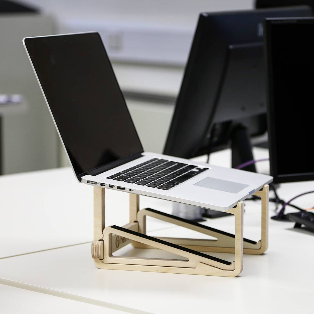 Our LaStand laptop riser and tablet stand is proving very popular and comes with its own carry bag and folds down completely flat for when you're on the move. You can get 10% off on our website right now. Great for MacBooks