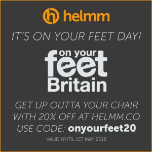 On Your Feet Day - 20% off