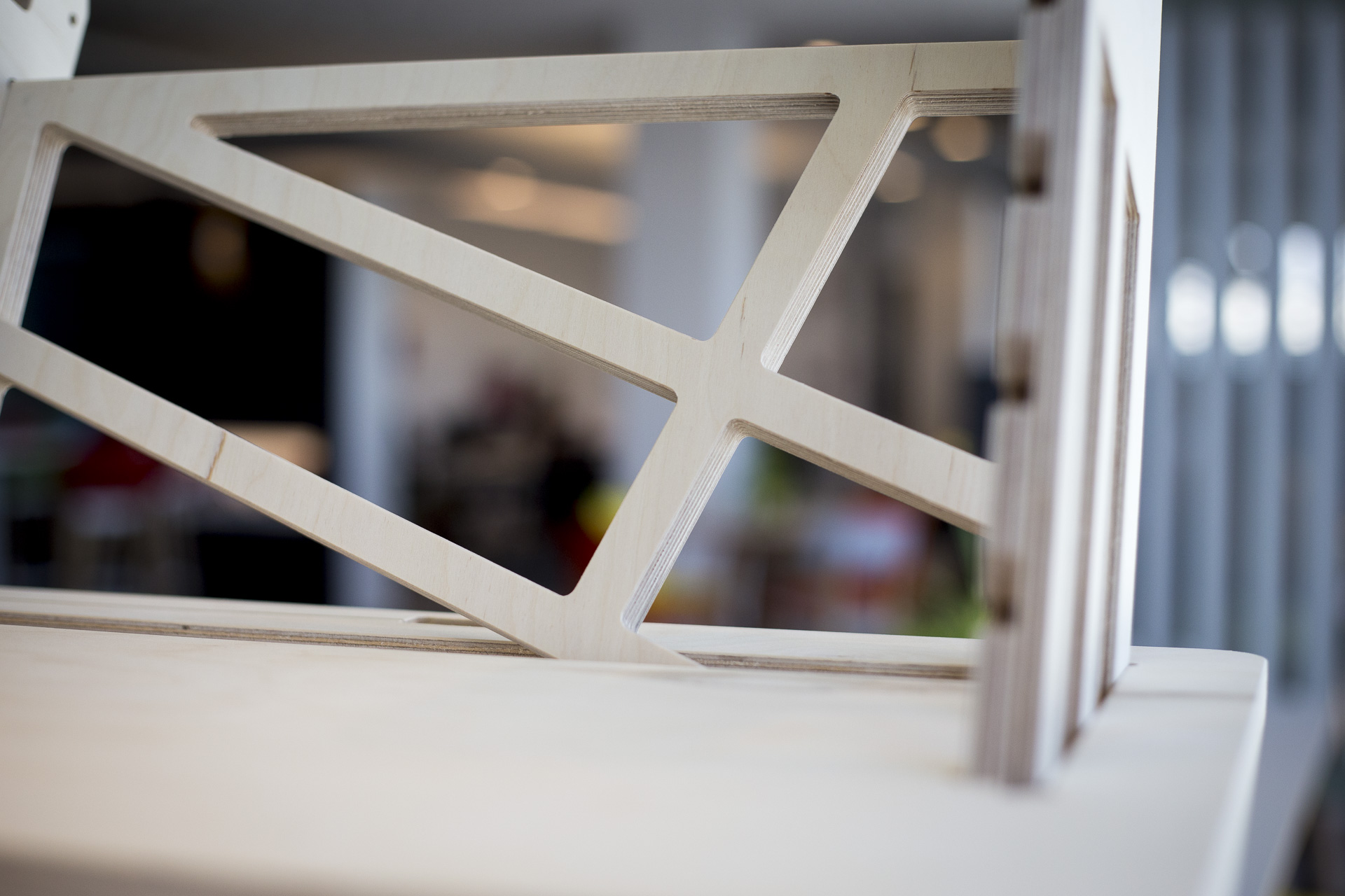 The back support of our standing desk