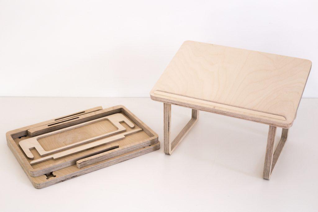 portable wooden standing desk for laptops