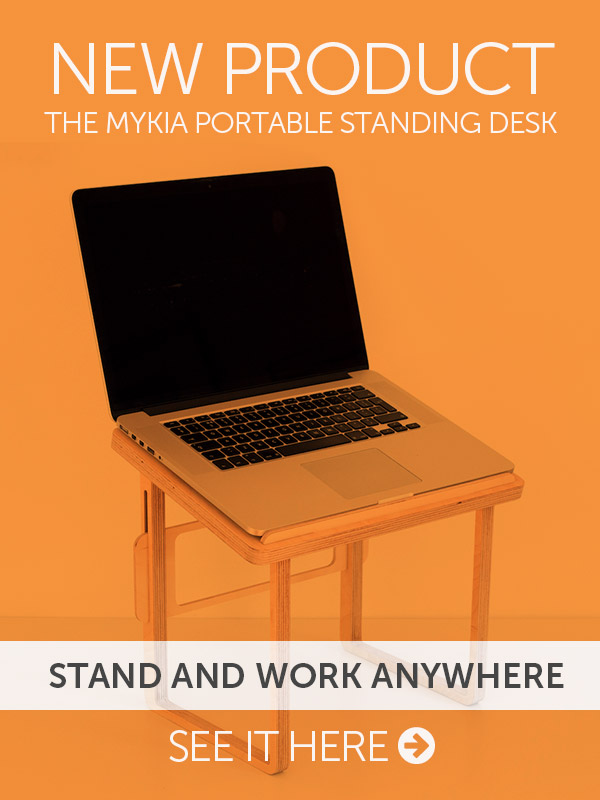 Mykia - the portable wooden standing desk for laptops